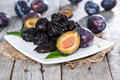 Fresh dried plums heap of Royalty Free Stock Photo