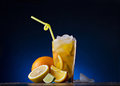 Fresh drink and citrus fruit Royalty Free Stock Photography