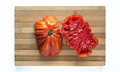 Fresh ecologic beefsteak tomato. Royalty Free Stock Photo