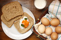 Fresh egg for breakfast meals ingredients Royalty Free Stock Image
