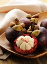 Fresh exotic fruit mangosteen Stock Image