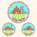 Fresh farm badge, label or sign in vintage style.