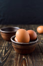 Fresh farm eggs in the bowl Royalty Free Stock Photo