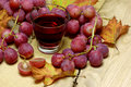 Fresh farm juices from grapes Royalty Free Stock Photo