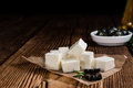 Fresh Feta Cheese Royalty Free Stock Photo