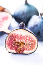 Fresh fig cut in half Royalty Free Stock Photo