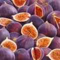 Fresh figs background Royalty Free Stock Photo