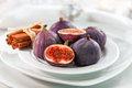 Fresh figs with cinnamon for Christmas Royalty Free Stock Photo