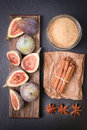 Fresh figs with several ingredients Stock Photos