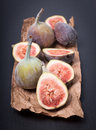Fresh figs on a slate Royalty Free Stock Photo