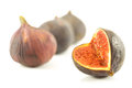 Fresh figs on a white background Royalty Free Stock Photography