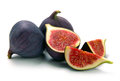 Fresh figs on a white background Stock Photography