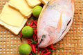 Fresh fish in the basket for cooking Stock Photo