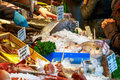 Fresh fish on display at Borough Market Royalty Free Stock Photo