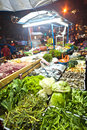 Fresh fish and vegetables offered bangkok dec at the night market in sukhumvit road at a foodstand on december in bangkok thailand Royalty Free Stock Image