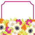 Fresh flower background with plants and flowers Stock Photography
