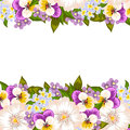 Fresh flower background with plants and flowers Royalty Free Stock Photo