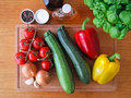 Fresh food ingredients Royalty Free Stock Photography