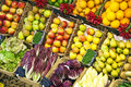 Fresh food offered at the market Royalty Free Stock Photos