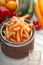 Fresh french fries on a bucket Royalty Free Stock Photo