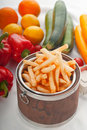 Fresh french fries on a bucket Stock Image