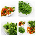 Fresh frozen vegetables Stock Images
