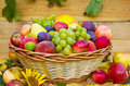 Fresh fruit in the basket Royalty Free Stock Photo
