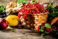 Fresh fruit, berry and vegetables Royalty Free Stock Photo