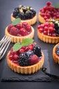Fresh fruit cakes Royalty Free Stock Photo