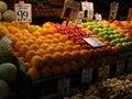 Fresh fruit on display at farmer's market Stock Image