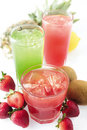 Fresh fruit juice Stock Image