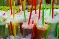 Fresh fruit juice Royalty Free Stock Photo