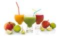 Fresh fruit juices Royalty Free Stock Photo