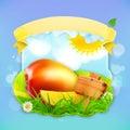 Fresh fruit label mango vector illustration background for making design of a juice pack jam jar etc Royalty Free Stock Images