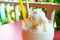 Fresh fruit milk shake coconut Royalty Free Stock Image