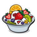 Fresh fruit salad illustration of Royalty Free Stock Photo