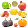 Fresh Fruit Set Isolated On White Background Stock Image