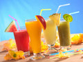 Fresh Fruit Smoothies Royalty Free Stock Images