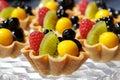 Fresh fruit tart Royalty Free Stock Photo