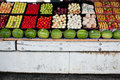 Fresh Fruit And Vegetables On Display At Farmers Market Royalty Free Stock Photo