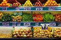 Fresh fruit and vegetables market Royalty Free Stock Photo