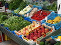 Fresh Fruit And Vegetables For Sale Royalty Free Stock Photo
