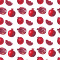 Fresh fruit watercolor pomegranate on a white background