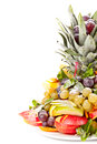 Fresh fruit on white background Stock Image