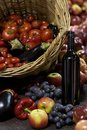 Fresh fruit and wine. Royalty Free Stock Photography