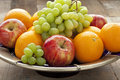 Fresh fruitbowl on the table Royalty Free Stock Photography