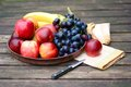 Fresh fruits with apples, nectarines and grapes Royalty Free Stock Photo