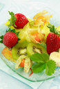 Fresh fruits as dessert Stock Photo