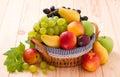 Fresh fruits in basket Royalty Free Stock Photo