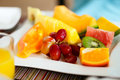 Fresh fruits and berries close up of tropical Royalty Free Stock Photography